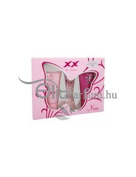 Mexx XX Very Nice női parfüm Set (Ajándék szett) (eau de toilette) edt 20ml + Tusfürdő Very Nice 50ml + Tusfürdő Very Wild 50ml
